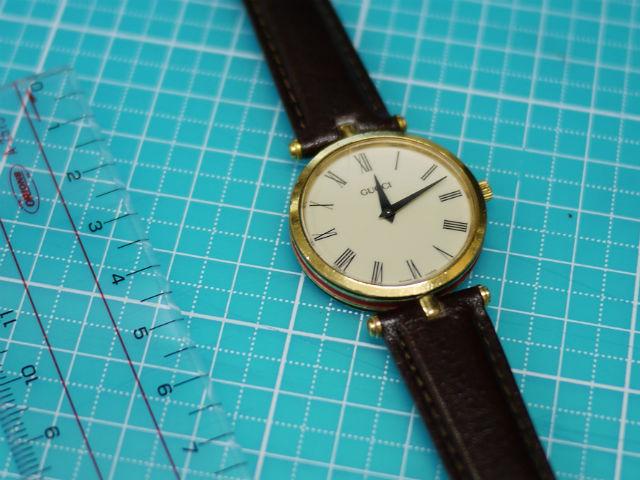 腕時計グッチのセンターラグベルトの加工取り付け完了