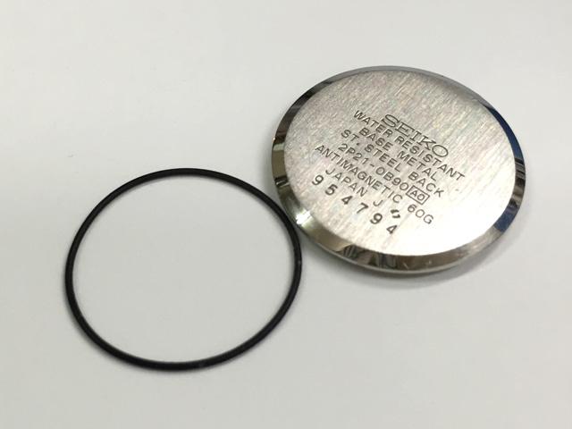 セイコー腕時計裏蓋の番号から適切なパッキンを選択する