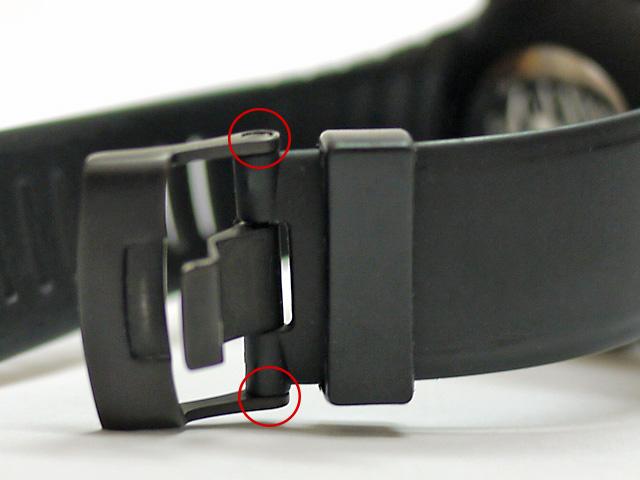 スント尾錠はバネ棒でなくビス式で硬い