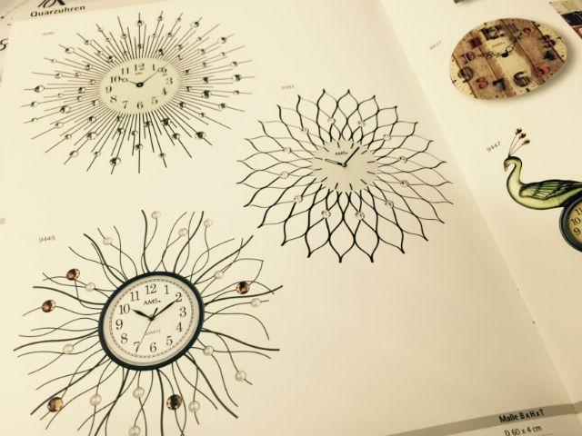芸術的なドイツ製AMS(アムス、アームス)西洋的な雰囲気の掛時計