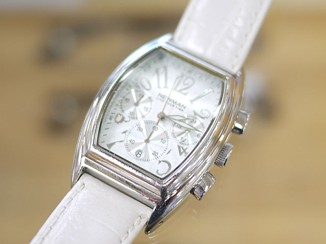 NEWMAN腕時計カレンダー枠外れ修理取り外し