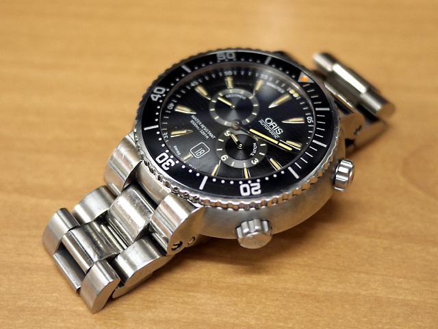 オリス腕時計ダイバーズ修理・止まり分解掃除