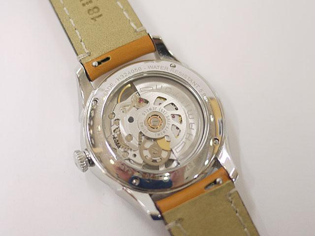 腕時計ベルトにレバー付きバネ棒装着