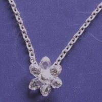 スワロフスキーのプチネックレス(お花)