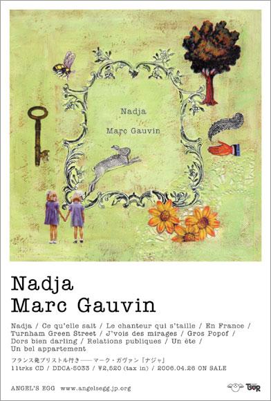 MARC GAUVIN / NADJA flyer 4c