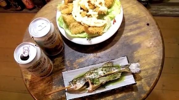 ブラックバス 塩焼き フライ ビール 健啖隊 料理 晩酌