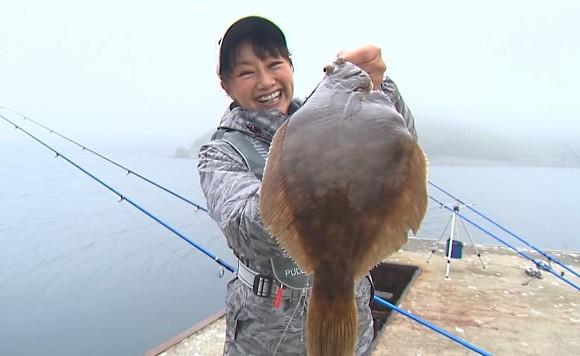 福島和可菜 カレイ SHIMANO 釣り百景