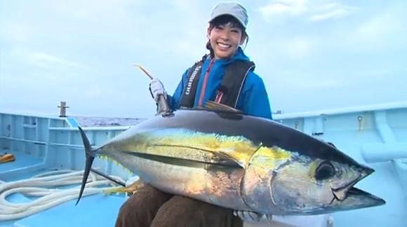 キハダマグロ 阪本智子 泳がせ釣り SHIMANO