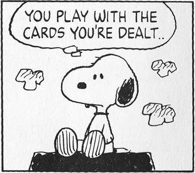 配られたカード