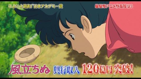第37回 日本アカデミー賞 風立ちぬ 最優秀アニメーション作品賞