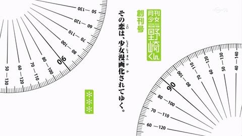 月刊少女野崎くん 1話 タイトル