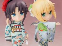 【Fate】 きゃらふぉるむ+「セイバー 和服ver.」「遠坂凛 和服ver.」フィギュア 本日受注締切