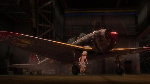 【 荒野のコトブキ飛行隊 】 1話 感想  挙動、音、拘りのプロペラ機空中戦!!  ストーリーは後回しで。