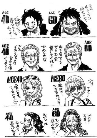 【ワンピース】40歳60歳、ナミだけ若すぎない?(画像)