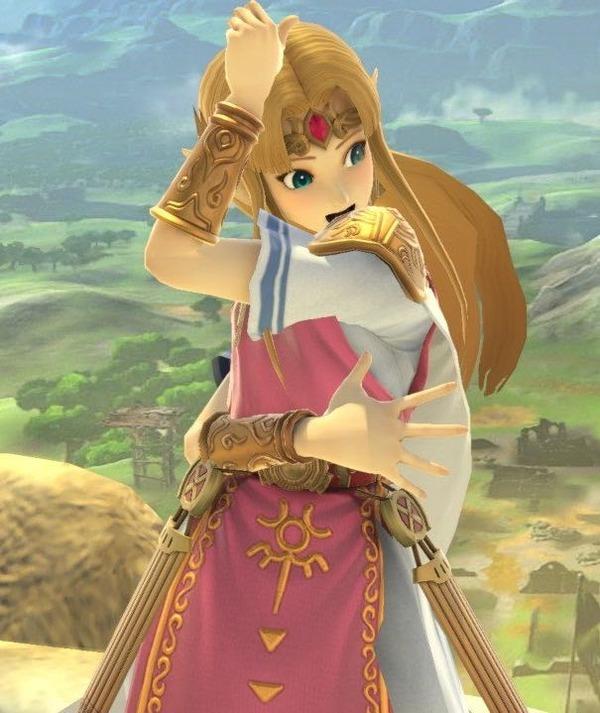 【画像】スマブラのゼルダ姫さん、すごいポーズをする