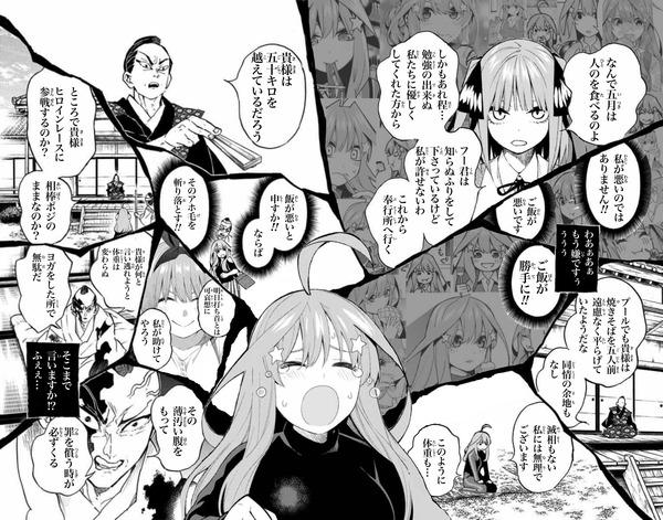 【五等分の花嫁】 中野五月ちゃん、半天狗コラが作られてしまうwww
