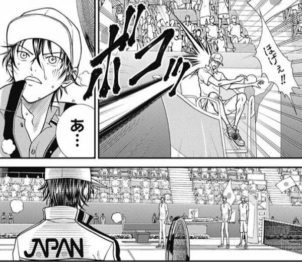 【画像】テニスの王子様、審判にダイレクアタックして病院送りにしてしまうwww