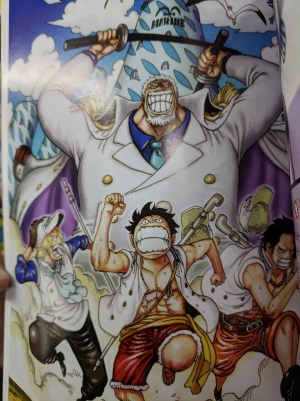 ワンピースマガジンに掲載されたルフィー達が海軍に入ったらのifルートが幸せいっぱいで楽しそう