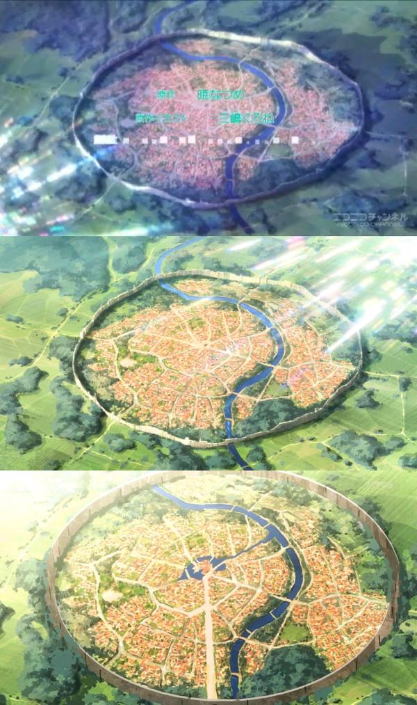 【画像】アニメ『このすば』『盾の勇者』『賢者の孫』街の形がコピペで完全に一致 もう少しバレないように工夫して…