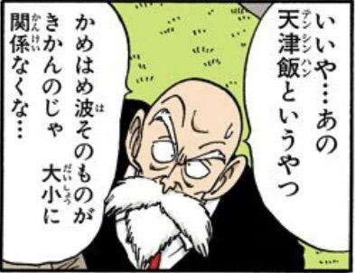 亀仙人「天津飯というやつかめはめ波そのものがきかんのじゃ 大小関係なくな…」←コレ