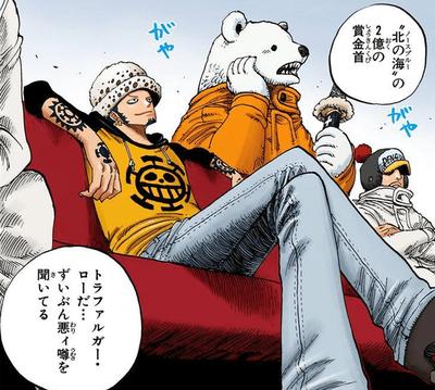 【ワンピース】 トラファルガー・ローというルフィー海賊団10人目の仲間www
