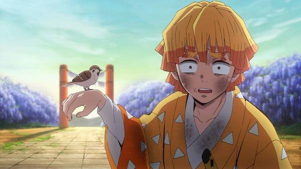 鬼滅の刃アニメ5話見たけどなんで善逸はカラスじゃなくて雀だったの?