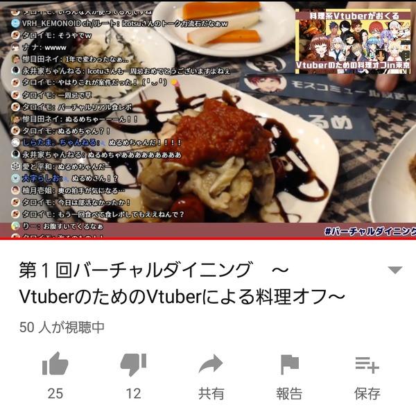【動画】VTuberさん、バーチャルなのにリアル食レポをしてしまう