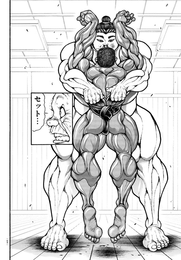 【悲報】刃牙のビスケット・オリバさん、身長が縮むwww