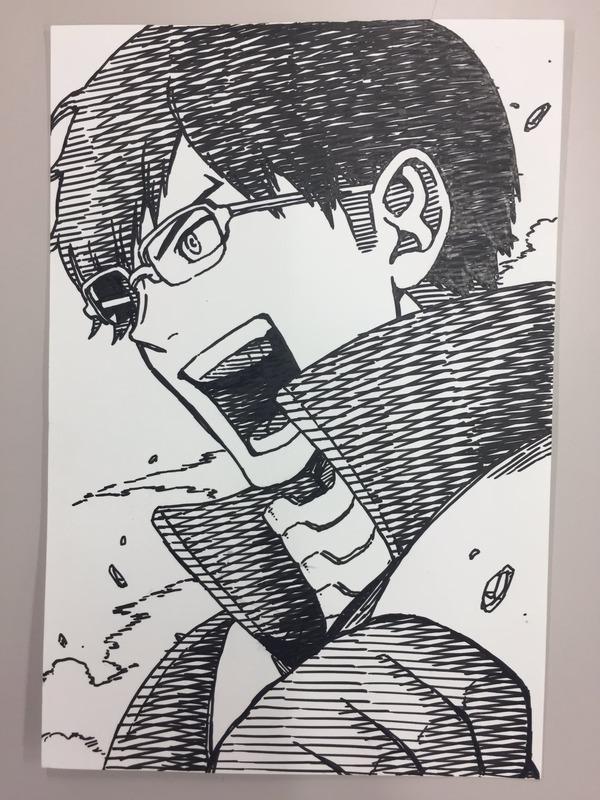 【ワールドトリガー】作者が描いたヒロアカの飯田君が完全に強そうなオッサムwww