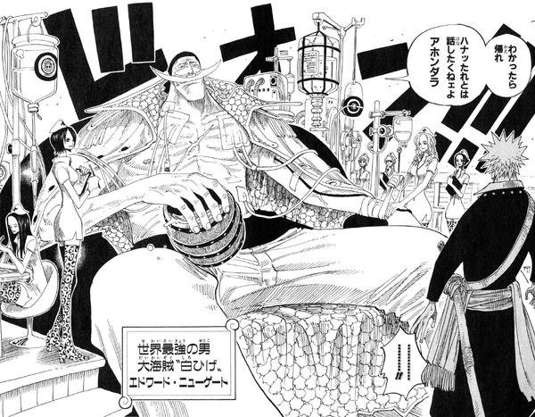 【悲報】ワンピースの白ひげさん、ただの通常武器でダメージを負ってしまう