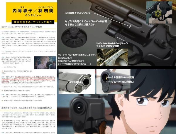 BANANA FISH監督「銃描写には徹底的にこだわってます」「間違った銃の使い方するとか恥ずかしいことはしません」→結果www