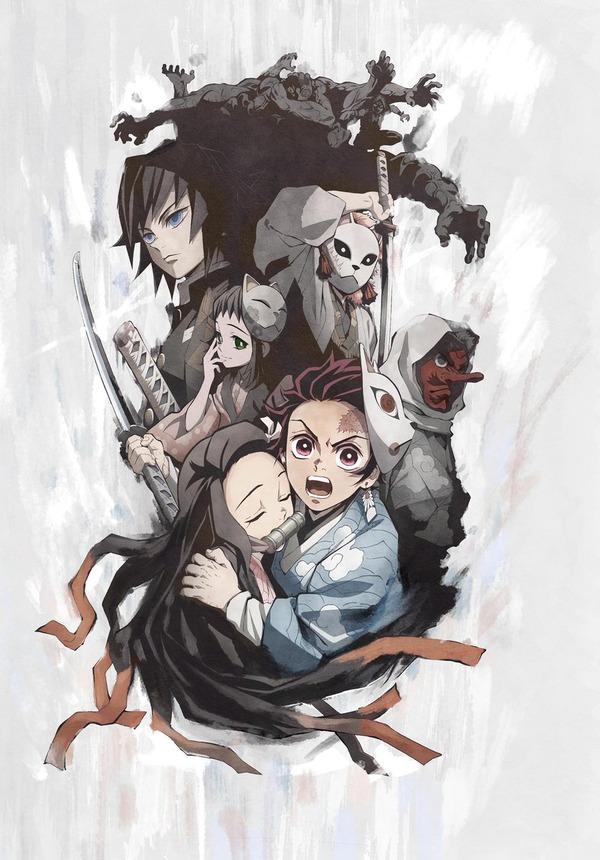 アニメ「鬼滅の刃」のキービジュアルが公開! 気合が入っていてかなりいい感じだな