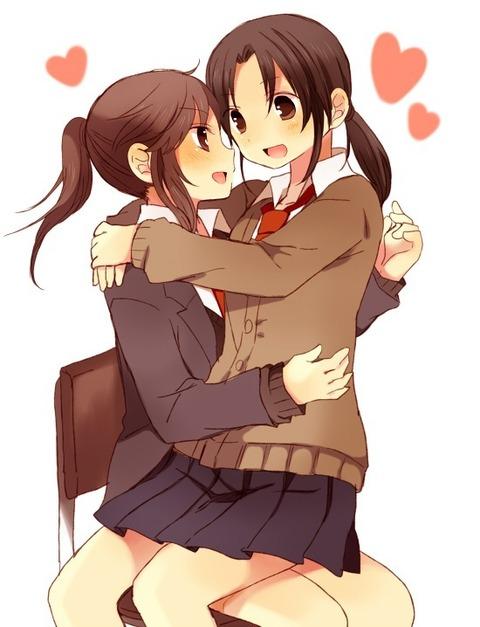 【百合画像】なんで女の子同士が抱き合ってる画像とかってあんなに興奮するの?