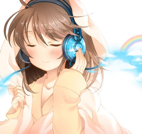 【画像】ヘッドホンつけてる可愛い女の子の画像くだしゃい!!part.1【ヘッドフォン】