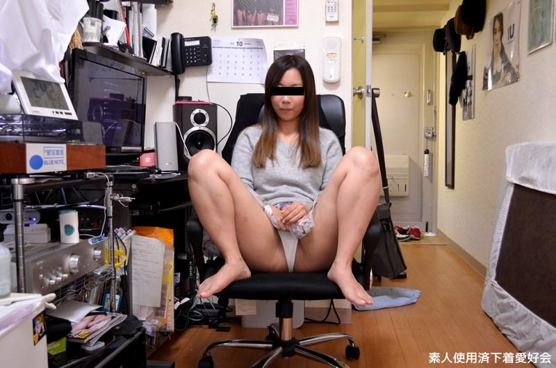 素人使用済み下着売りの女の子の頭にパンツかぶせてハメ撮りセックス