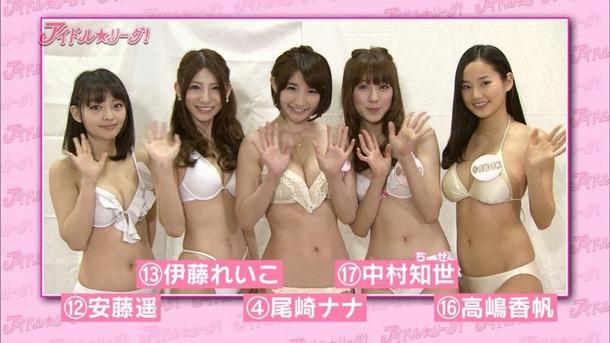 アイドル☆リーグ!で尾崎ナナなど有名グラドルがOLコスプレしてるエロ画像