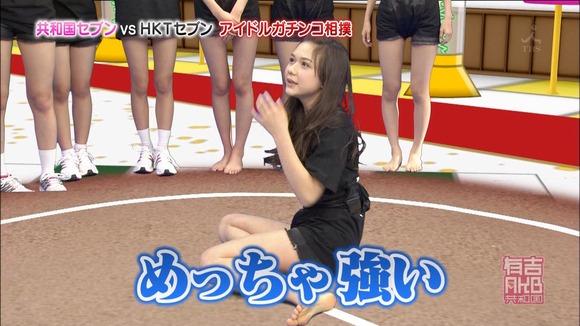 HKT48がポットハンツで相撲してるエロ画像