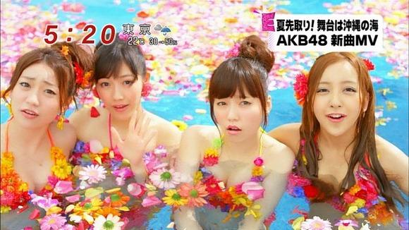 AKB48 さよならクロールのPVでメンバーが水着になってるエロ画像
