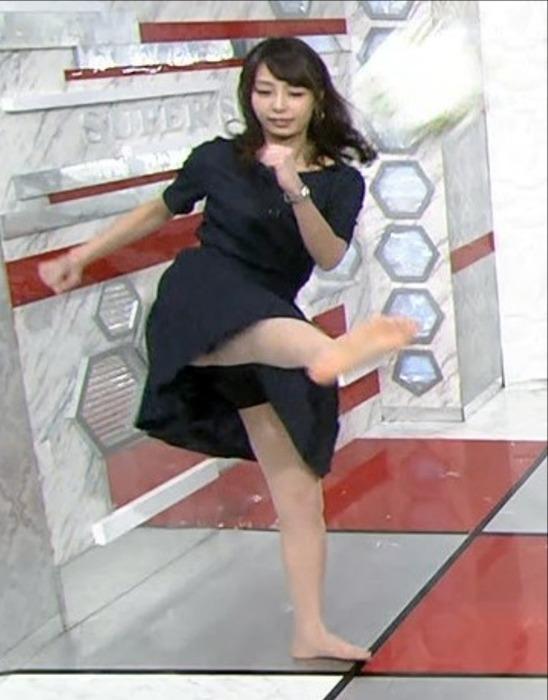 宇垣美里 女子アナウンサーがキックでパンチラしそう