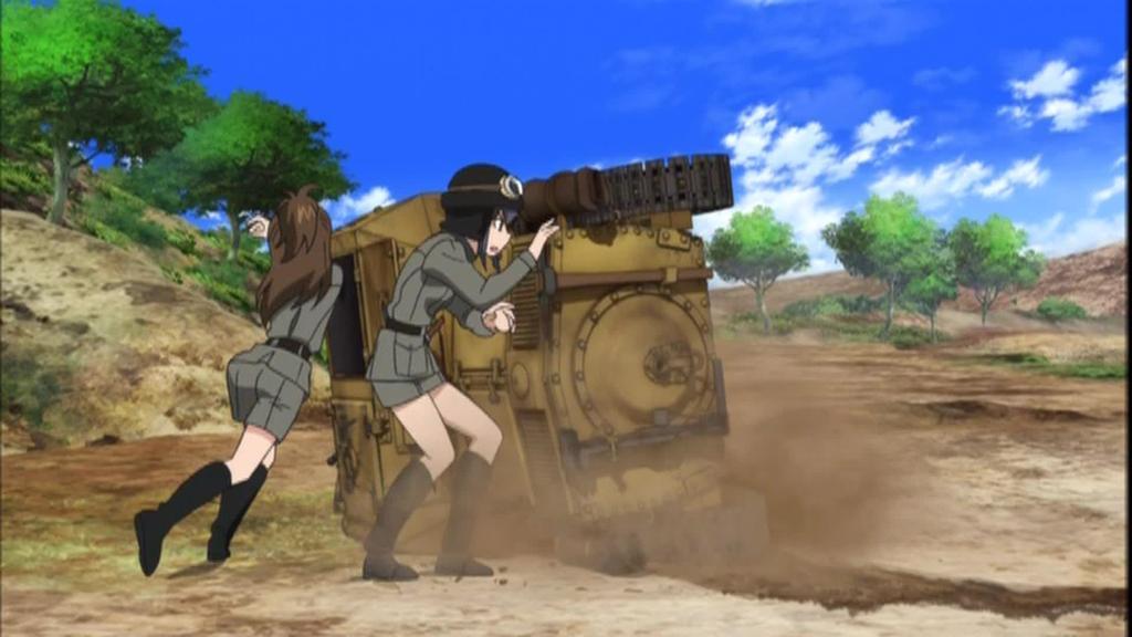 OVAガールズ&パンツァー これが本当のアンツィオ戦です!033