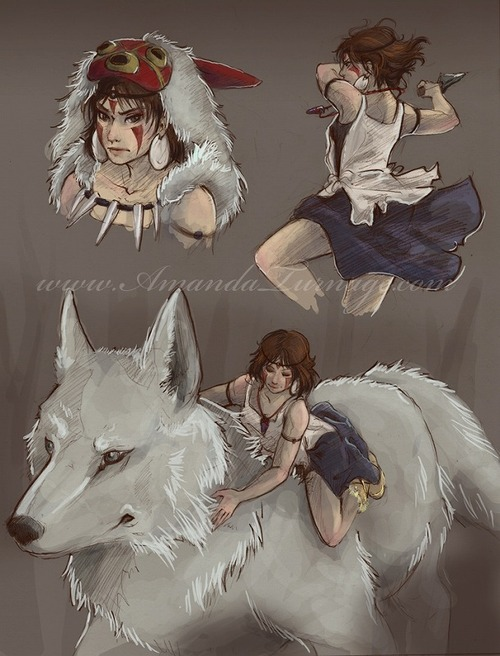 princess_mononoke_sketches_by_armadaryu-d37vxec