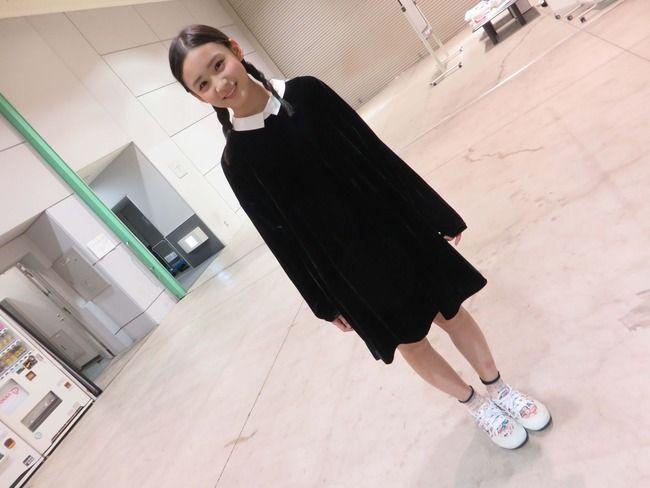 【HKT48】アダムスファミリーの「ウェンズデー」のかっこをした荒巻美咲がかわいい!!