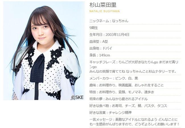 【速報】SKE48研究生杉山菜田里、本日6月30日をもって卒業・・・