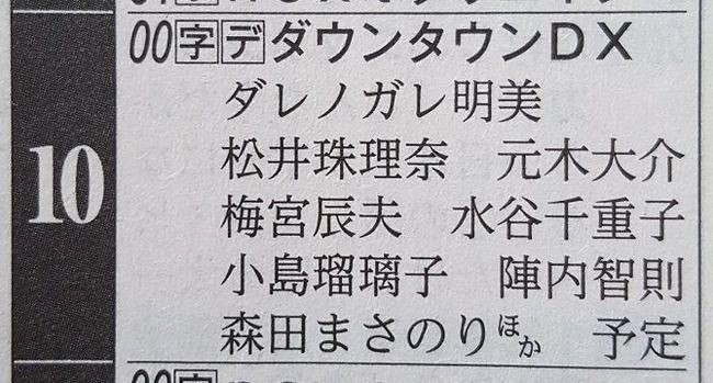 【SKE48】松井珠理奈さんとダウンタウン松本人志が早くもまさかの電撃和解か?