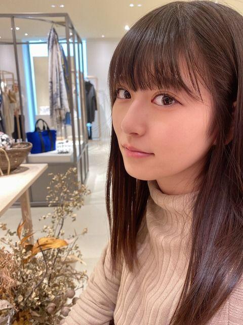 【HKT48】月足天音ちゃん、毛穴まで見えるどアップ写真を投稿