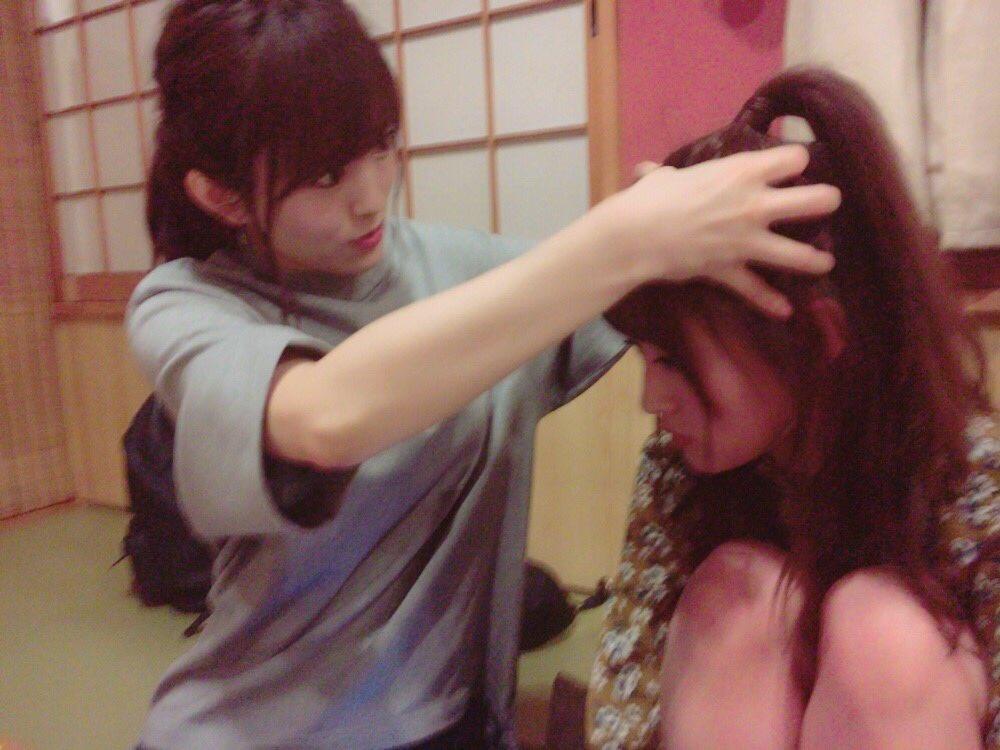 【画像あり】 髪の毛上げてて頭皮疲れたらしく【NMB48】