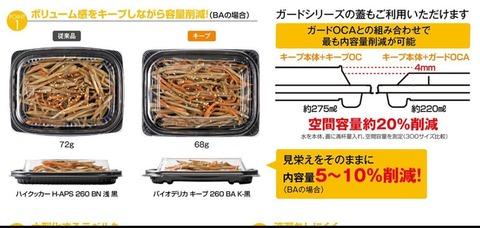 【画像】弁当容器メーカーの広告で上げ底&値上げがバレるの画像