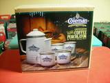 Coffee Percolator & Mugs