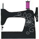 Vintage Sewing Machine Applique_150x150