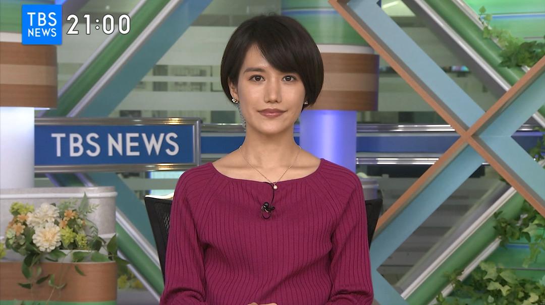 TBS NEWS 尾島沙緒里 2019/02/24 : フリー女子アナPhotoRoom